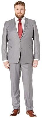 Kenneth Cole Reaction Big Tall Techni-Cole Open Bottom Suits (Light Grey Basketweave) Men's Suits Sets