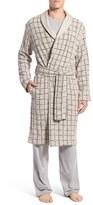 UGG 'Hugh' Plaid Cotton Robe