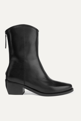LEGRES 03 Leather Ankle Boots - Black