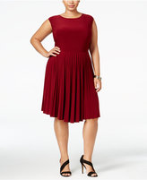 Love Squared Plus Size Pleated Fit & Flare Dress