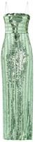 Galvan Stargaze Sequinned Tulle Dress - Womens - Green