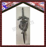 SHYNE_ENTERPRISES Irish Harp Highland Scottish Kilt Pins In Chrome Finish/Brooch Kilt Pin
