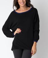 Yuka Paris Black & Indigo Mia Long Sweater