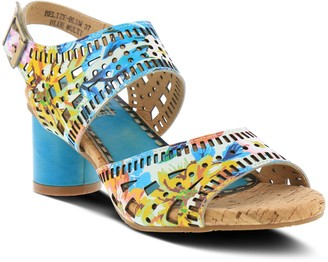 Spring Step L'Artiste By Cutout Leather Sandals- Belize