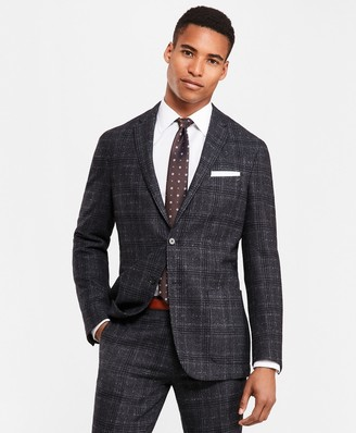 Brooks Brothers Plaid Two-Button Twill Suit Jacket