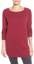 Halogen Shirttail Wool & Cashmere Boatneck Tunic (Regular & Petite)