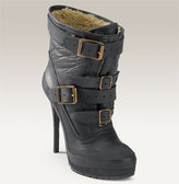 Genuine Shearling Lined Buckle Bootie