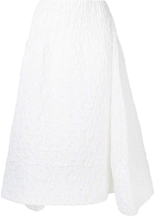 asymmetric textured skirt