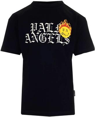 Palm Angels Burning Head Printed T-Shirt
