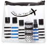 MIAMICA Clear For Take-Off Security Case 12-Piece Set - Black & Blue