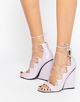 Lace Up Wedge Heels - ShopStyle