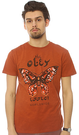 Obey The Effect Slub Tee in Picante