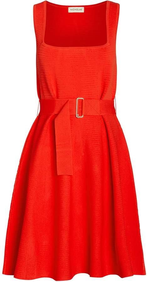 Nicholas Poppy Ribbed Mini Dress