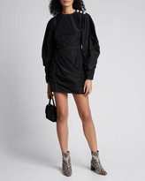Ganni Recycled Polyester Long-Sleeve Short Dress