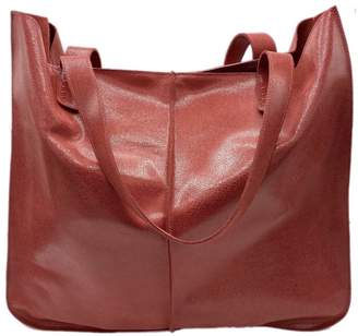 Neyuh Leather The Large Tote - Red Grain