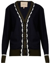 Roksanda Heddon scalloped-edge wool cardigan