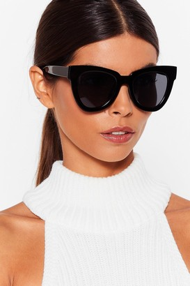 Nasty Gal Womens Live in the Meow-ment Cat-Eye Sunglasses - Black