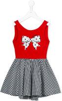 Lapin House - checked flared dress - kids - Cotton/Spandex/Elastane - 2 yrs