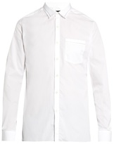 Lanvin Contrast-trim button-cuff cotton shirt