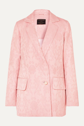 Mother of Pearl +net Sustain Francis Organic Cotton And Wool-blend Floral-jacquard Blazer - Pastel pink