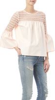Endless Rose Peach Lace Top