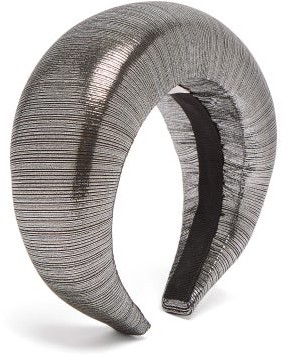 Flapper Edvige Padded Metallic Headband - Womens - Silver