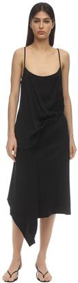 Viscose Dress W/Drawstring Detail