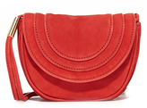 Diane von Furstenberg Mini Nubuck Saddle Bag