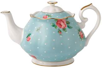 Royal Albert Polka Blue Vintage Teapot (1.25L)