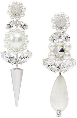 Simone Rocha Faux Pearl Spike Earrings