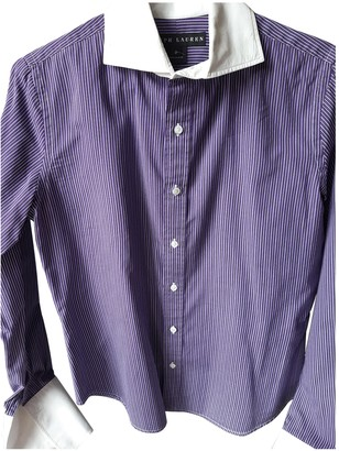 Ralph Lauren Purple Cotton Top for Women Vintage