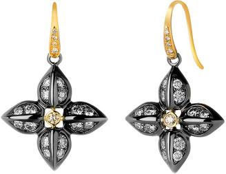 Syna Diamond Two-Tone Love Flower Earrings