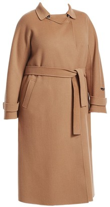 Marina Rinaldi, Plus Size Trionfo Wrap Camel Coat