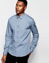 Dkny Shirt Contrast Panels - Blue