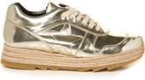 Stella McCartney Macy metallic faux-leather trainers