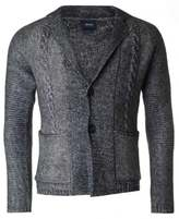 Armani Jeans Button Through Cable Mix Cardigan