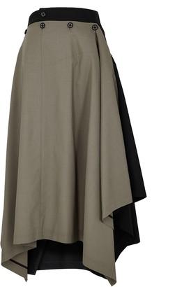 Hyke Panelled Wool-blend Skirt