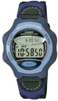 Casio Women's Collection Digital Watch with Imitation Leather/Cloth Strap LW-24HB-6AVES