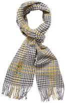 Psycho Bunny Men's Cashmere Plaid Scarf