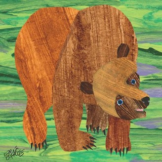 Marmont Hill Eric Carle Brown Bear 2 Art Print on Premium Canvas