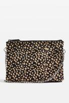 Topshop OAKLEY Spot Leather Zip Cross Body Bag