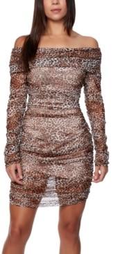 Bebe Juniors' Off-The-Shoulder Ruched Dress