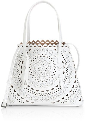 Alaia Small Mina Perforated Leather Tote