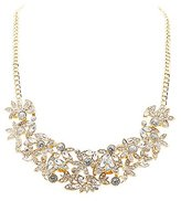 Charlotte Russe Faceted Rhinestone Bib Necklace