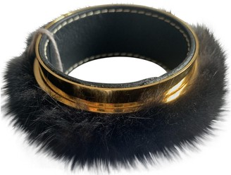 Marni Black Mink Bracelets