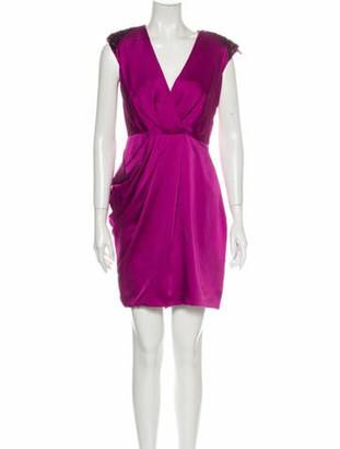 J. Mendel Silk Mini Dress Purple