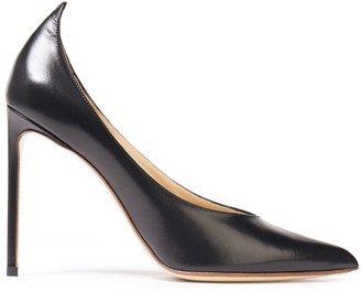 Francesco Russo Glossed-leather Pumps