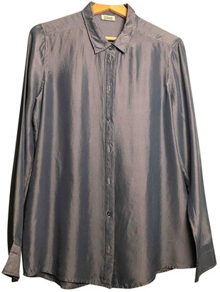 Closed Blue Silk Top for Women