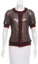 Robert Rodriguez Silk Sequin Sweater
