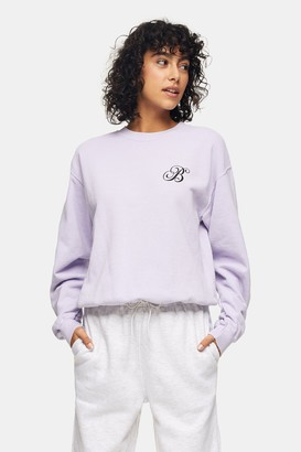 Topshop Womens Lilac Alphabet Letter B Sweatshirt - Lilac